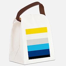 Modern stripe Canvas Lunch Bag