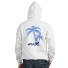 Blue Beach Palm Hooded Sweatshirt