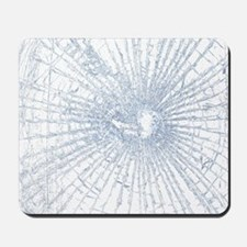 Broken Glass 2 White Mousepad