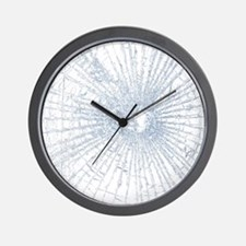 Broken Glass 2 White Wall Clock
