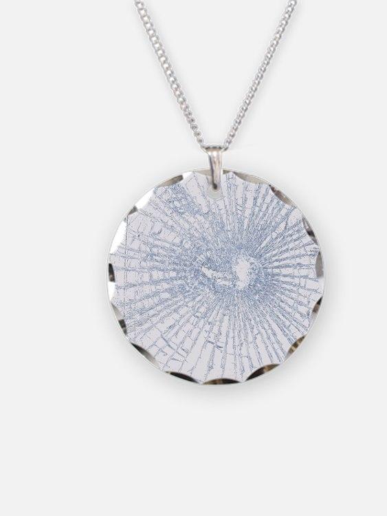 Broken Glass 2 White Necklace