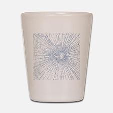 Broken Glass 2 White Shot Glass