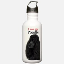 Poodle Love Water Bottle
