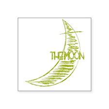 "bk_rag_back_moon Square Sticker 3"" x 3"""