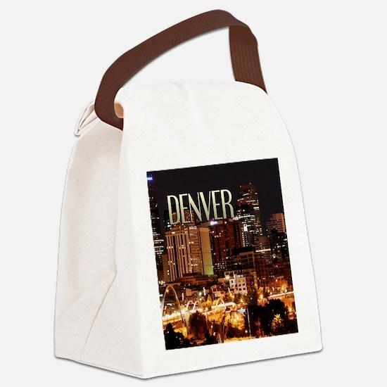 Denver Colorado Canvas Lunch Bag