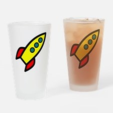 yellow rocket Drinking Glass