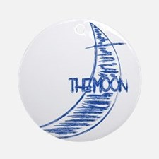 lbl_moon Round Ornament