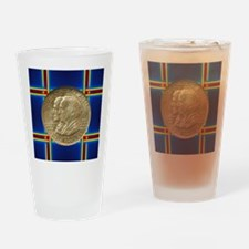 Alabama Centennial Half Dollar Coin Drinking Glass