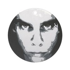 painting b and w Round Ornament