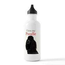 Poodle Love Sports Water Bottle