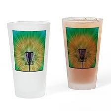 Tie Dye Disc Golf Basket Drinking Glass