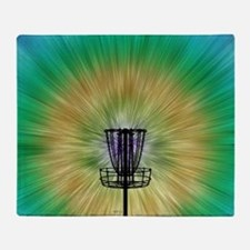 Tie Dye Disc Golf Basket Throw Blanket