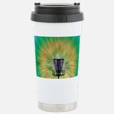 Tie Dye Disc Golf Baske Travel Mug