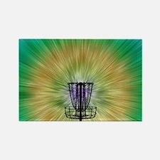Tie Dye Disc Golf Basket Rectangle Magnet