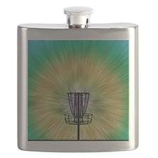 Tie Dye Disc Golf Basket Flask