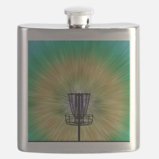 Tie Dye Disc Golf Basket Flask