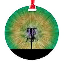 Tie Dye Disc Golf Basket Ornament