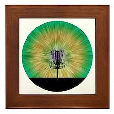 Tie Dye Disc Golf Basket Framed Tile