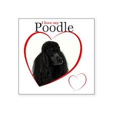"Poodle Love Square Sticker 3"" x 3"""