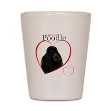 Poodle Love Shot Glass