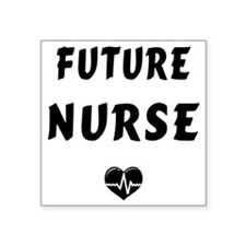 "Future Nurse Square Sticker 3"" x 3"""