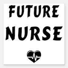 "Future Nurse Square Car Magnet 3"" x 3"""