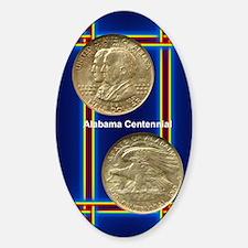 Alabama Centennial Half Dollar Coin Sticker (Oval)