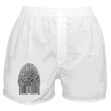 personal identity, fingerprint with b Boxer Shorts