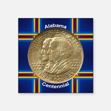 "Alabama Centennial Half Dol Square Sticker 3"" x 3"""