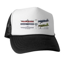 F4U Corsair - USS Intrepid CV-11 Trucker Hat