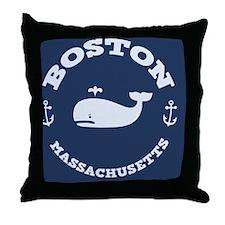 souv-whale-boston-BUT Throw Pillow