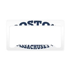 souv-whale-boston-CAP License Plate Holder