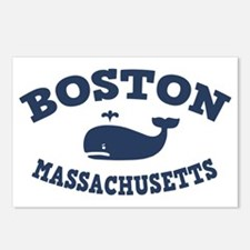 souv-whale-boston-CAP Postcards (Package of 8)
