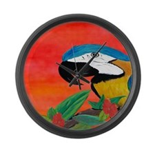 Parrot Head Large Wall Clock