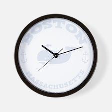 souv-whale-boston-DKT Wall Clock
