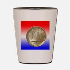 American Independence Half Dollar Coin  Shot Glass