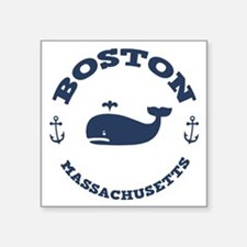 "souv-whale-boston-LTT Square Sticker 3"" x 3"""