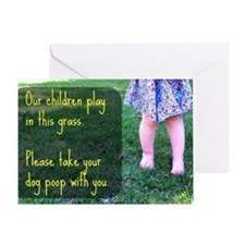 Our Children play in this grass Greeting Card