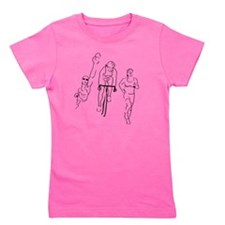 Triathlon Woman Girl's Tee