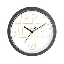 Jerk Alert Wall Clock