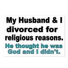 My Husband  I Divorced fo Postcards (Package of 8)