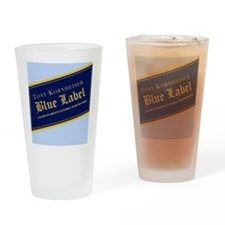 Blue Label Drinking Glass