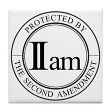IIam - Protected By - 10in B Tile Coaster