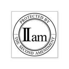 "IIam - Protected By - 10in  Square Sticker 3"" x 3"""