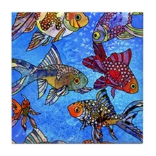 Wild Goldfish Tile Coaster