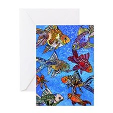 Wild Goldfish Greeting Card