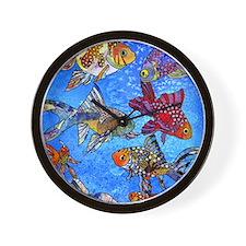 Wild Goldfish Wall Clock