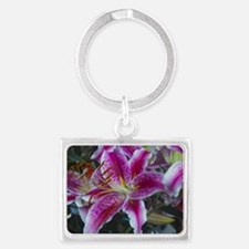 Stargazer Lily Landscape Keychain