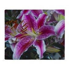 Stargazer Lily Throw Blanket