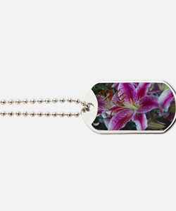 Stargazer Lily Dog Tags